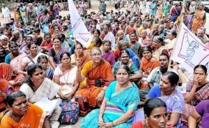 Hindu women at demonstration