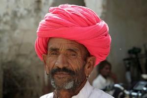 pink turban man