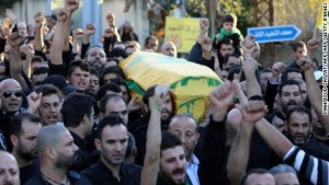 Funeral procession of Ados Termos, who died after tackling a suicide bomber in Beirut (CNN)