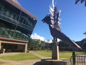 The 'Iolani Bird, fierce and metallic