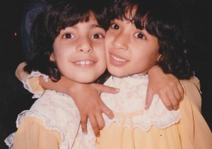 Are they twins or just close sisters? Parsi girls at the 1989 Navroze celebration