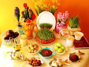 All these elements appear on a Nawroz table