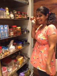 Perzen Patel, a Parsi cuisine expert in Mumbai, with her fabulous pantry