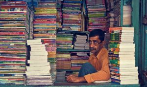 College Street bookseller/photo by Rishi Bandopadhyay