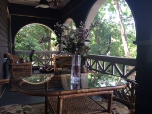 My sleeping porch-summer is an East/West blend--just like its architecture