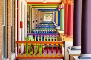 Charles Village, Baltimore, row house porches/Greg Pease
