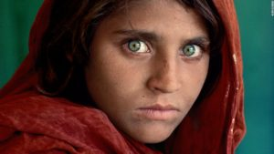 Famous 1984 image of Sharbat Gula by Steve McCurry/National Geographic