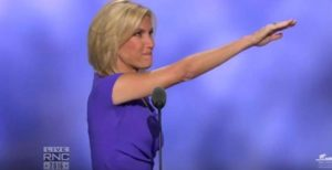 Trump supporter Laura Ingraham finished her convention speech with this gesture