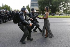 Ieshia Evans photographed in Baton Rouge by Jonathan Bachman/Reuters