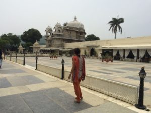 At Jag Mandir, an island palace meant for summer recreation in Udaipur