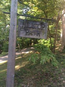 hilltop path sign