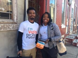 We met this pair, who work for a PAC, on the streets doing similar work to ours.