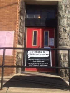 Philadelphia schools and community centers are called into service on election day, and Spanish is widely used.