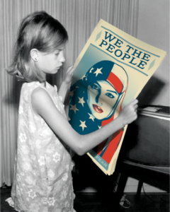 We The People poster by Shepard Fairey