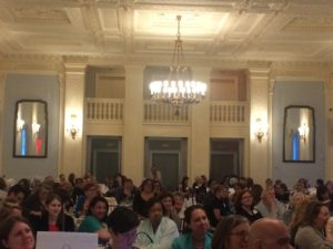 Librarians paying attention in the gorgeous Yale Club