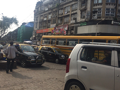 The historic Crawford Market Area of Bombay
