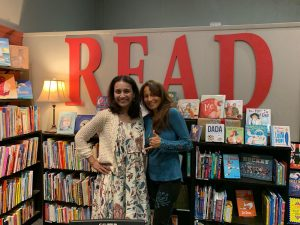 With debut author Tori Eldridge at Chevalier's in Los Angeles