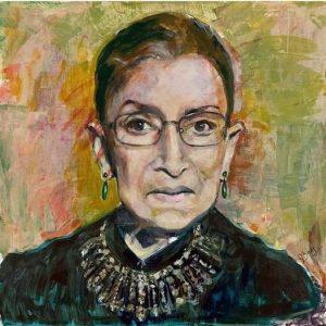 Portrait of RBG by Joan Baez