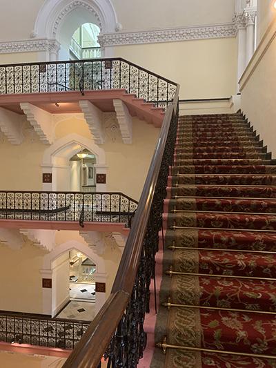 taj hotel stairs
